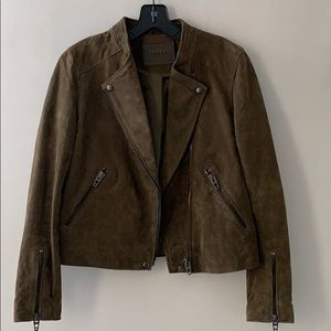 NWOT blank NYC olive green suede jacket